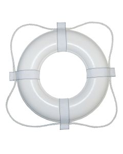 """Taylor Made Foam Ring Buoy - 30"""" - White w/White Rope"""