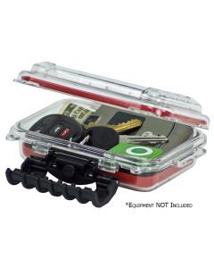 Plano Waterproof Polycarbonate Storage Box - 3449 Size - Red/Clear