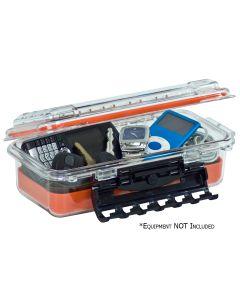 Plano Waterproof Polycarbonate Storage Box - 3500 Size - Orange/Clear