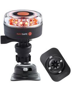 Navisafe Navilight All RED 360 degree 2NM w/Navimount Base & RIB Mount - Black