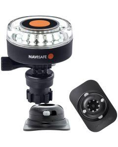 Navisafe Navilight 360 degree 2NM White w/Navimount Base & RIB Mount - Black