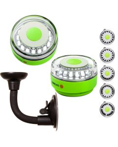 Navisafe Portable Navilight 360 degree 2NM Rescue - Glow In The Dark - Green w/Bendable Suction Cup Mount