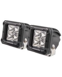"""HEISE 4 LED Cube Light w/Harness - Spot Beam- 3"""" - 2 Pack"""