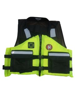 First Watch AV-500 Industrial Mesh Vest (USCG Type III) - Hi-Vis Yellow/Black - Large