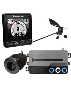 Raymarine i70s System Pack w/Color Instrument & Wind, DST Transducers, iTC-5, 3M Backbone, T-Piece, Power & 2 Backbone Terminators