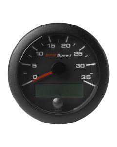 "VDO 3-3/8"" (85mm) OceanLink GPS Speedometer 0-35 - Black Dial & Bezel"