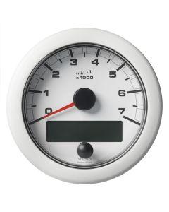 "VDO 3-3/8"" (85mm) OceanLink NMEA 2000 Tach - 7000 RPM - White Dial & Bezel"