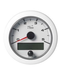 "VDO 3-3/8"" (85mm) OceanLink NMEA 2000 Tach - 5000 RPM - White Dial & Bezel"
