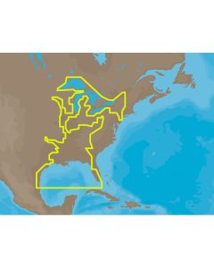 C-MAP MAX NA-M023 - U.S. Gulf Coast & Inland Rivers - SDCard