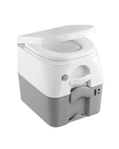 Dometic - SeaLand 975MSD Portable Toilet 5.0 Gallon - Grey w/Brackets