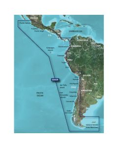 Garmin BlueChart g2 HD - HXSA002R - South America West Coast - microSD/SD
