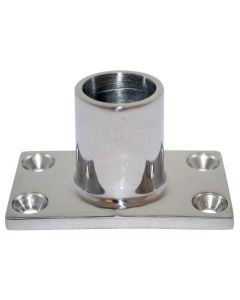 "Whitecap ⅞"" O.D. 90 degree Rectangle Base SS Rail Fitting"