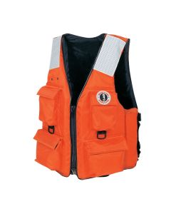 Mustang 4-Pocket Vest w/SOLAS Reflective Tape - XXL - Orange