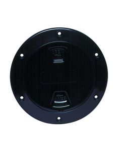 "Beckson 4"" Smooth Center Screw-Out Deck Plate - Black"