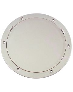 "Beckson 8"" Smooth Center Pry-Out Deck Plate - White"