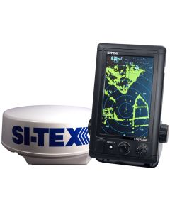 "SI-TEX T-760 Compact Color Radar w/4kW 18"" Dome - 7"" Touchscreen"