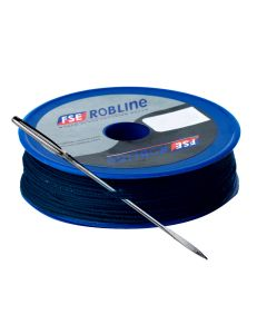 Robline Waxed Tackle Yarn Whipping Twine Kit w/Needle - Dark Navy Blue - 0.8mm x 80M