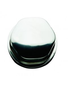 "Schmitt Faux Center Nut - Stainless Steel - 1/2""&3/4"" Base Included - For Cast Steering Wheels"