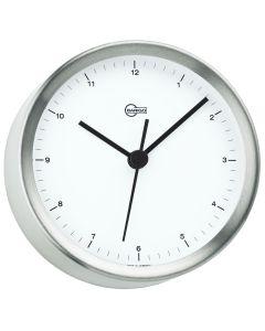 "BARIGO Steel Series Quartz Ship's Clock - Stainless Steel Housing - 4"" Dial"