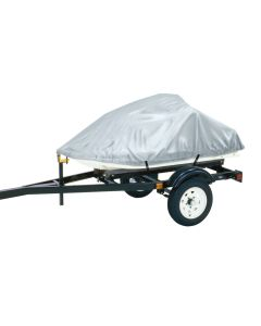 """Dallas Manufacturing Co. Polyester Personal Watercraft Cover A, Fits 2 Seater Model Up To 113""""L x 48""""W x 42""""H - Silver"""