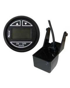 "Faria Euro Black 2"" Depth Sounder w/Transom Mount Transducer"