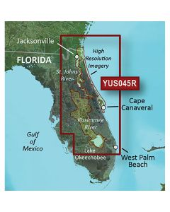 Garmin BlueChart g2 HD w/High Resolution Satellite Imagery - Florida East Coast + St Johns + Kissimmee River System
