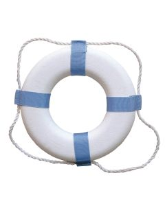 """Taylor Made Decorative Ring Buoy - 20"""" - White/Blue - Not USCG Approved"""