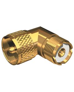 Shakespeare Right Angle Connector - PL-259 to SO-239 Adapter