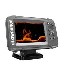 """Lowrance HOOK(2)-5x 5"""" GPS SplitShot Fishfinder w/Track Plotter Transom Mount SplitShot Transducer"""