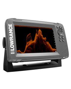 """Lowrance HOOK(2)-7x 7"""" GPS SplitShot Fishfinder w/Track Plotter Transom Mount SplitShot Transducer"""