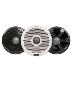 "FUSION FR6022 6"" Round 2-Way IPX65 Marine Speakers - 200W - Pair w/3 Speaker Grilles Provided - *Case of 6*"