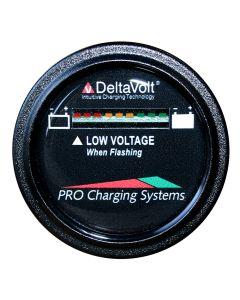 Dual Pro Battery Fuel Gauge - DeltaView Link Compatible - 24V System (2-12V Batteries, 4-6V Batteries)
