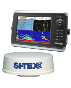 SI-TEX NavStar 10R GPS Chartplotter, Sonar, Radar System w/MDS-12 Radar and internal GPS Antenna