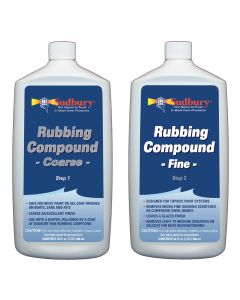 Sudbury Rubbing Compound Kit - Step 1 Coarse & Step 2 Fine - 32oz Each