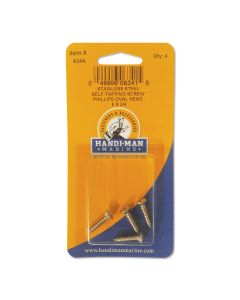 Handi-Man Phillips Self Tapping Oval Head Screw - #8 x 3/4""