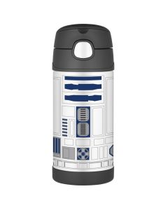 Thermos FUNtainerStainless Steel, Insulated Straw Bottle - Star Wars - 12 oz.