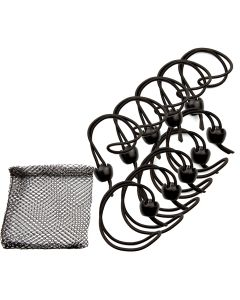 """Whitecap Jaw Bungee - 12"""" Elastic Cord w/1"""" Jaw Ball - 10-Pack"""