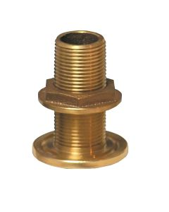 "GROCO 3/4"" NPS NPT Combo Bronze Thru-Hull Fitting w/Nut"
