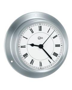 "BARIGO Sky Series Quartz Ship's Clock - Brushed Stainless Steel Housing - 3.3"" Dial"