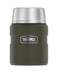 Thermos Stainless KingVacuum Insulated Stainless Steel Food Jar - 16oz - Matte Army Green