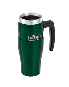 Thermos Stainless KingVacuum Insulated Stainless Steel Travel Mug - 16oz - Pine Green
