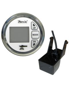 "Faria 2"" Dual Depth Sounder w/Air & Water Temp Transom Mount Transducer - Chesapeake SS White"
