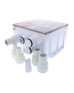 Rule Shower Drain Box w/1100 GPH Pump - 12V