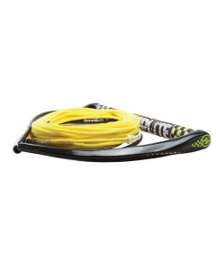 "Hyperlite 75' Rope w/Chamois Handle Fuse Mainline Combo - Yellow - 5 Section - 15"" Handle"