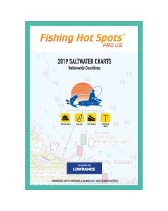 Fishing Hot Spots Pro SW 2019 Saltwater Charts Nationwide Coastlines f/Lowrance & Simrad Units