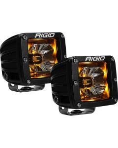 RIGID Industries RadiancePod Amber Backlight Black Housing - Pair