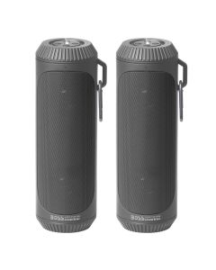 Boss Audio Bolt Marine Bluetooth Portable Speaker System with Flashlight - Pair - Grey