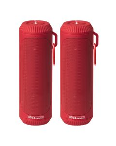 Boss Audio Bolt Marine Bluetooth Portable Speaker System with Flashlight - Pair - Red