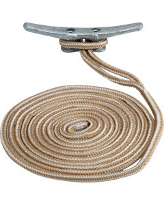 "Sea-Dog Double Braided Nylon Dock Line - 5/8"" x 35' - Gold/White"