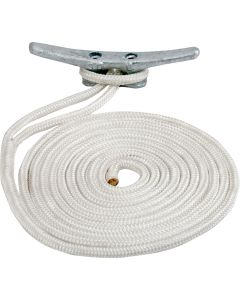 "Sea-Dog Double Braided Nylon Dock Line - 5/8"" x 35' - White"